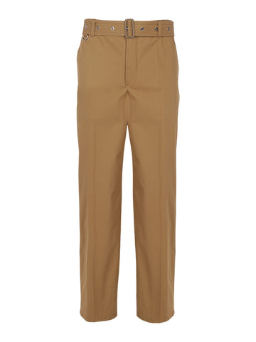 Burberry Belted Straight Leg Trousers
