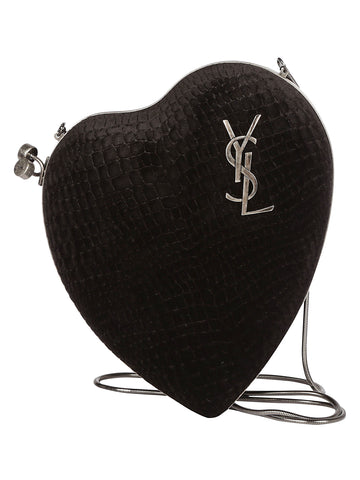 Saint Laurent Heart-Shaped Crossbody Bag