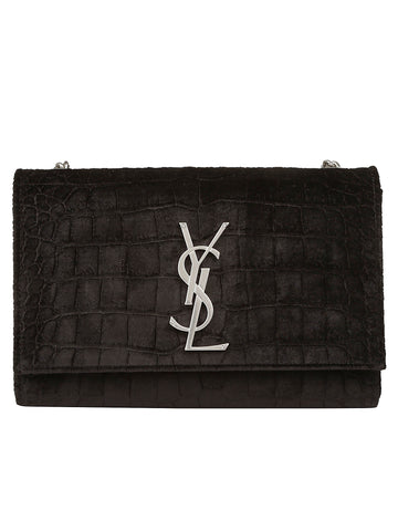 Saint Laurent Kate Logo Plaque Shoulder Bag