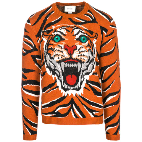 Gucci Tiger Long Sleeve Sweater