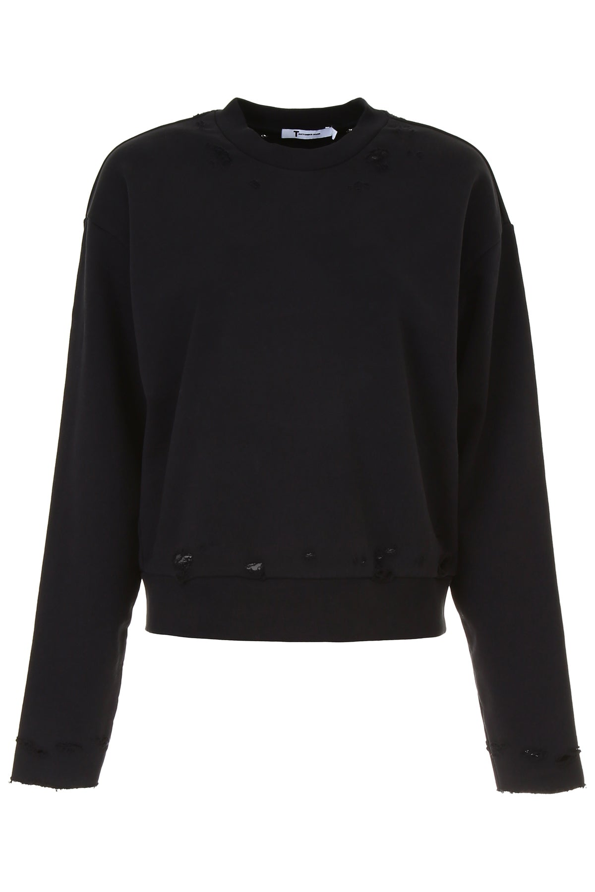 T By Alexander Wang Tops T BY ALEXANDER WANG DISTRESSED JUMPER