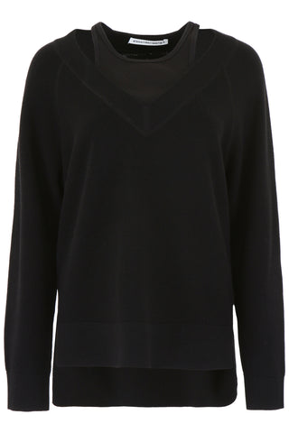 T By Alexander Wang Cut-Out Detail Sweater