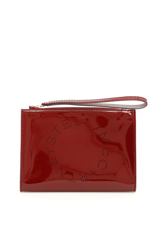 Stella McCartney Patent Logo Zip Clutch