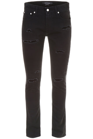 Alexander McQueen Distressed Slim-Fit Jeans