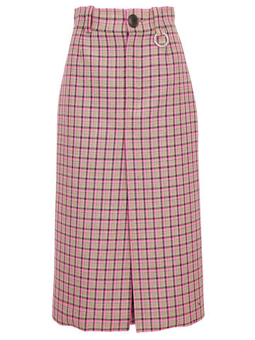 Balenciaga Check Pencil Skirt