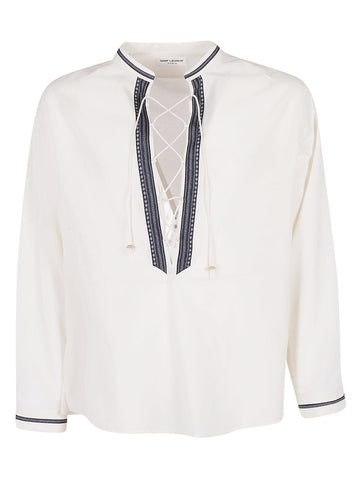 Saint Laurent Lace-Up Shirt