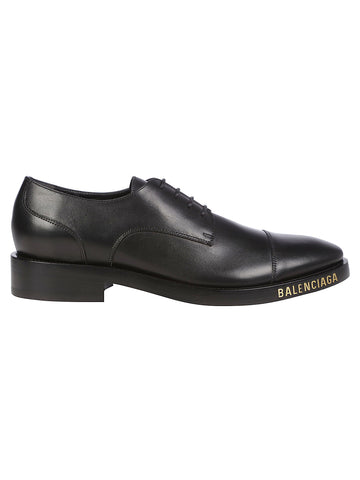 Balenciaga Logo Print Derby Shoes