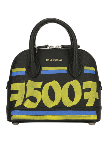 Balenciaga Ville XXS Graffiti Print Top Handle Bag