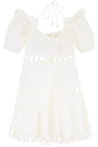Zimmermann Cold-Shoulder Mini Dress
