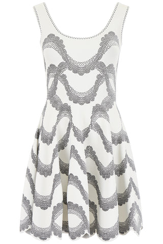 Alexander McQueen Scallop Hem Mini Dress