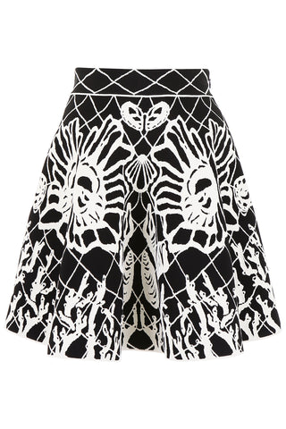 Alexander McQueen Patterned Flared Skirt