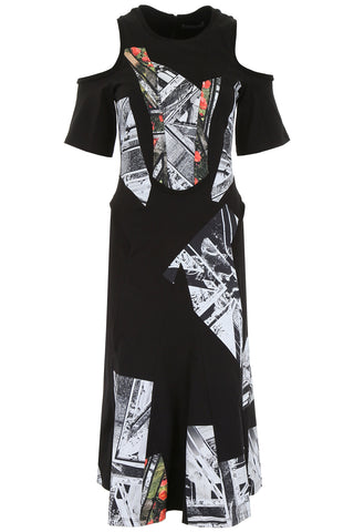 Alexander McQueen Printed Cut-Out Dress