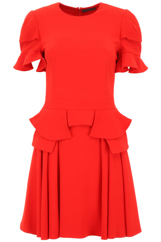 Alexander McQueen Ruffled Mini Dress