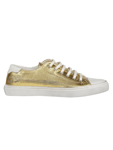Saint Laurent Bedford Metallic Sneakers