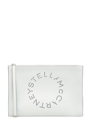 Stella McCartney Zipped Perforated Logo Clutch