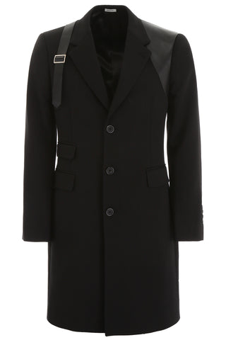 Alexander McQueen Harness Buckled Single Breasted Coat