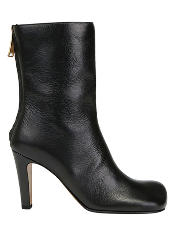 Bottega Veneta Square Toe High Ankle Boots