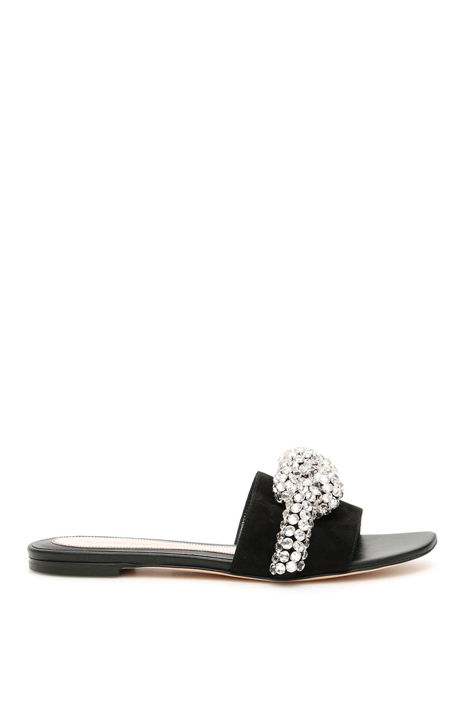 Alexander McQueen Crystal Embellished Knot Mules