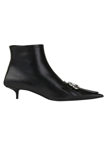 Balenciaga BB Fringed Pointed-Toe Boots