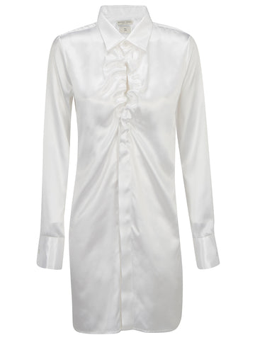 Bottega Veneta Ruched Detail Longline Shirt