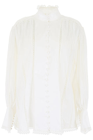 Zimmerman High-Neck Lace Blouse