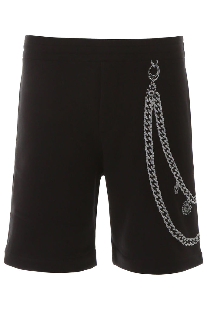 Alexander McQueen Embroidered Chain Shorts