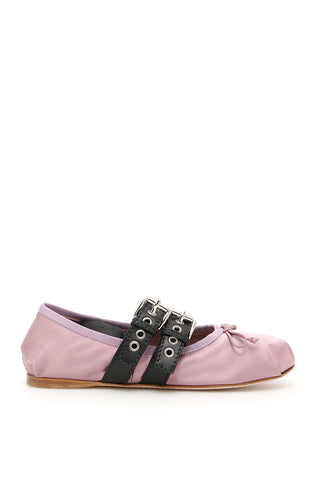 Miu Miu Buckled Ankle Strap Ballerinas