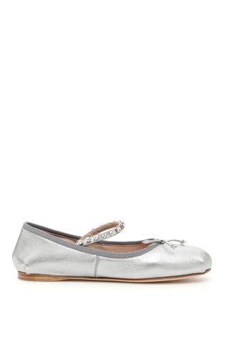 Miu Miu Jewelled Ballet Flats