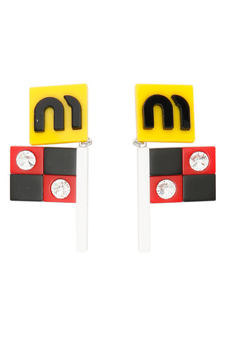 Miu Miu Flag Earrings