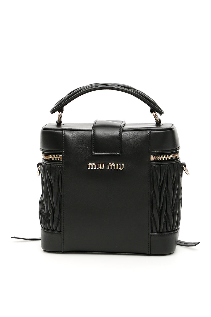 010f79566101 Miu Miu Structured Shoulder Bag