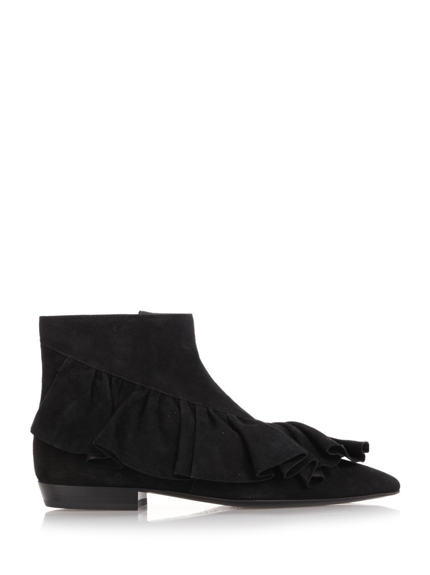 JW ANDERSON RUFFLED ANKLE BOOTS