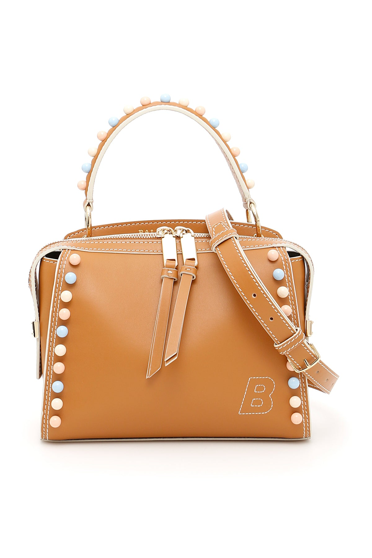 BALLY EMBELLISHED STUD TOTE