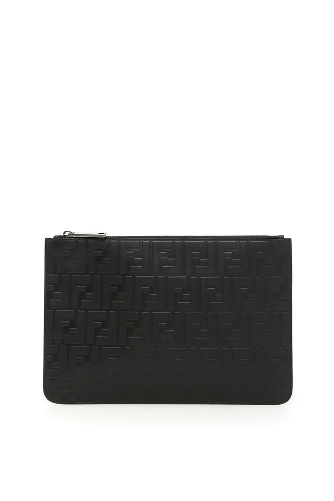 cf7ace5079 Fendi FF Textured Clutch Bag – Cettire