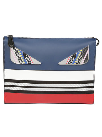 Fendi Bad Bugs Striped Pouch