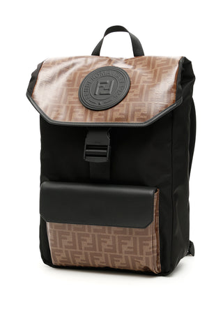 Fendi Monogram Panelled Backpack