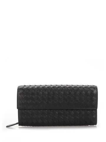 Bottega Veneta Intreccio Flap Wallet