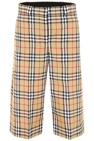 Burberry Vintage Check Wide Leg Midi Trousers