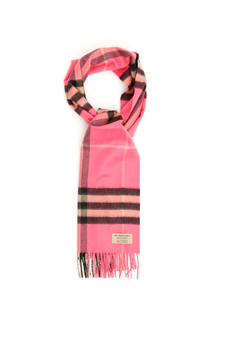 Burberry Fringed Hem Check Scarf