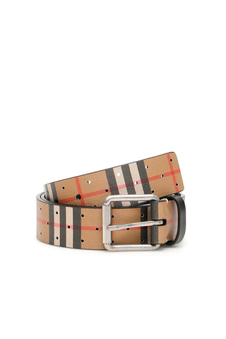 Burberry Perforated Vintage Check Belt