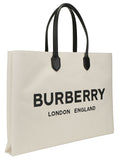 Burberry Logo Print Tote Bag