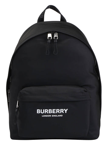 Burberry Logo Print Nylon Backpack