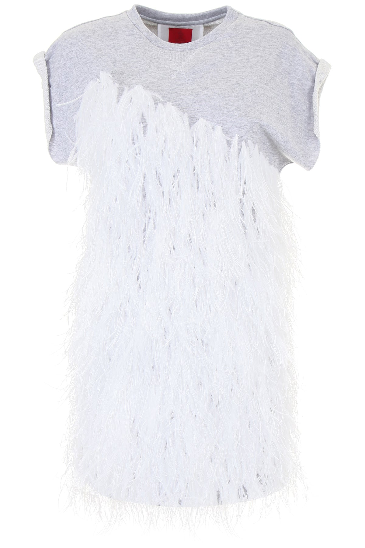 MONCLER GAMME ROUGE FEATHER SWEATSHIRT DRESS