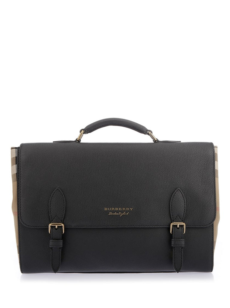 Burberry House Check Detail Satchel Bag