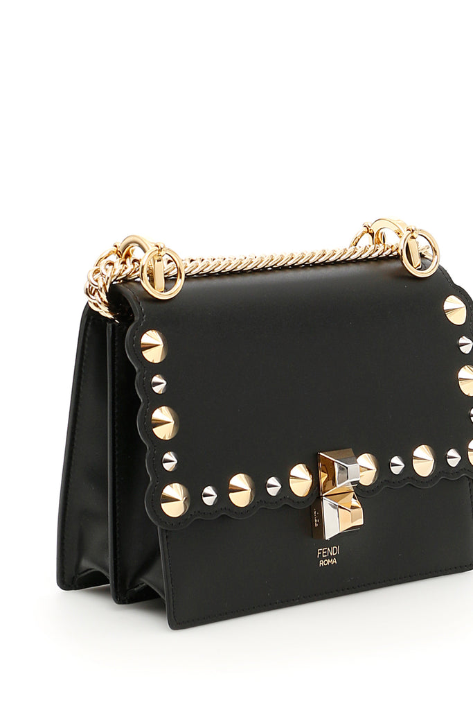 66fe93e7e214 Fendi Kan I Studded Shoulder Bag