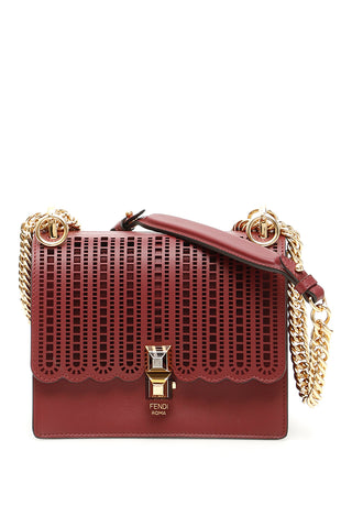 Fendi KAN I Perforated Shoulder Bag
