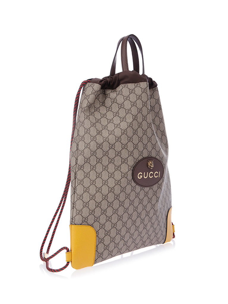 1d82f86d87f Gucci GG Supreme Drawstring Backpack – Cettire