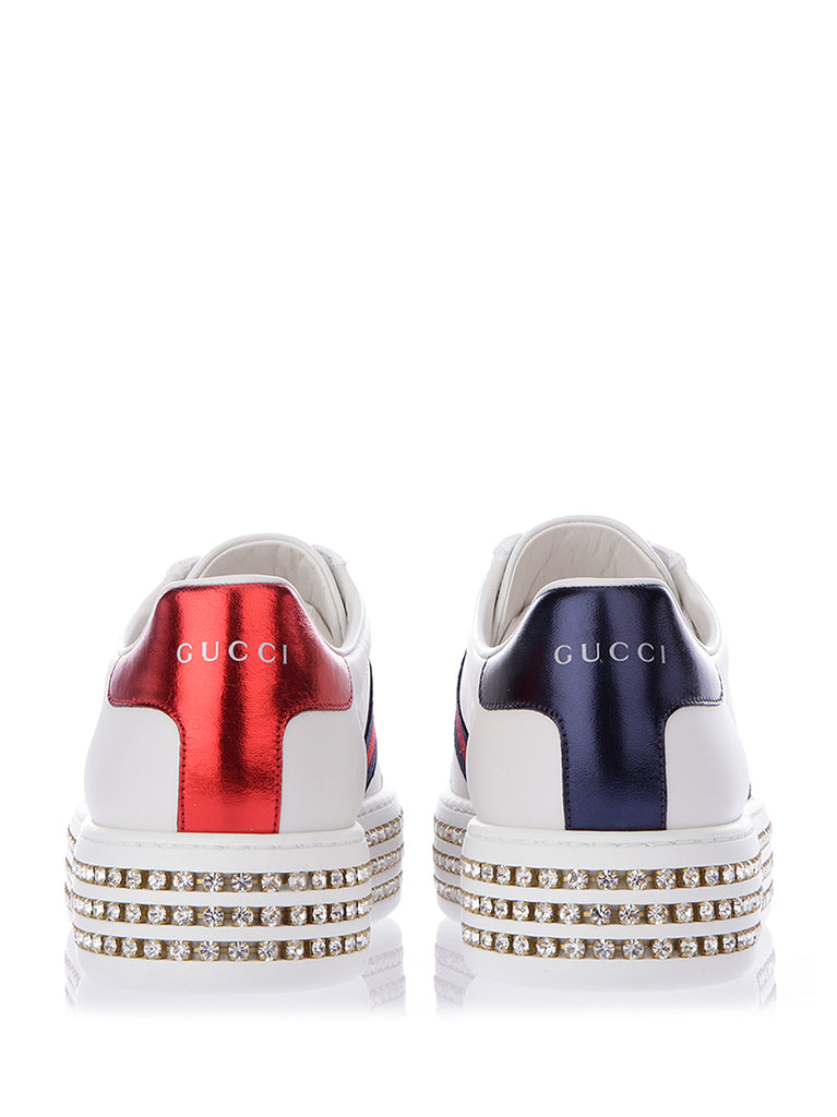 b0670b8ec21 Gucci Crystal Studded Ace Sneakers – Cettire