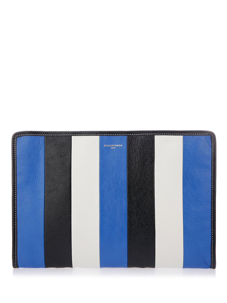 Striped Clutch - Only One Size / Multi Balenciaga Online Store 2018 New For Sale Low Price Fee Shipping Discounts Online LYytTr