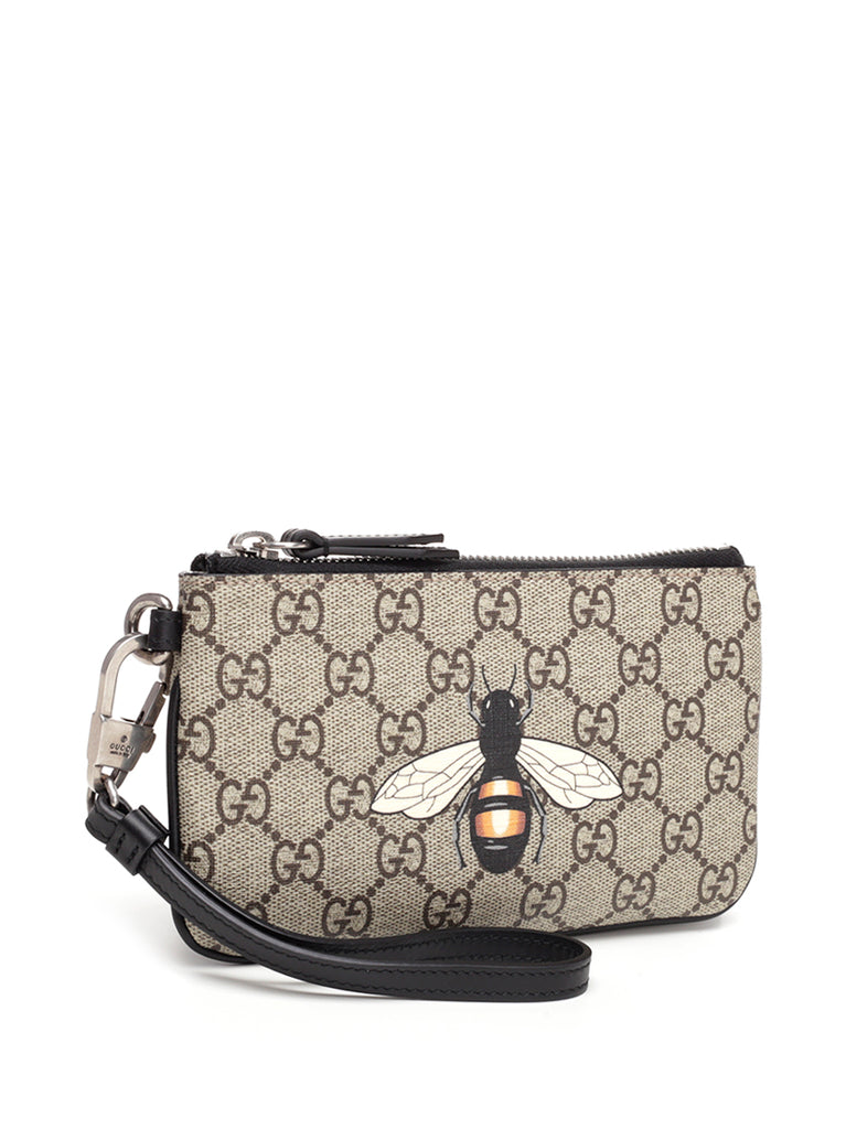 ced91be6fe4453 Gucci GG Bee Print Small Pouch – Cettire