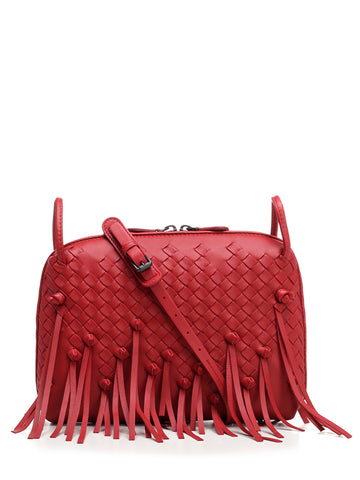 Bottega Veneta Fringed Nodini Crossbody Bag
